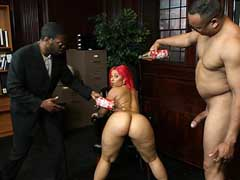 Pinky gets her tight pussy and ass pounded without mercy. Pinky