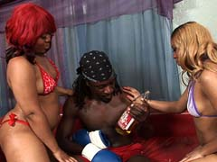 Big booty black hoes get a nice pussy pounding! Luscious Louis & Beauty Dior