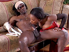 Huge titted black babe fucking with her boyfriend. Ariel Alexus