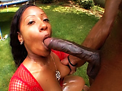 Horny babe gets her fat ass fucked. Cherokee D Ass