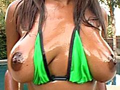 Amazing colossal black tits. Janea Jolie