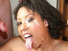 Rednecks Gangbang Black Babe With Bukkake Finish. Angelica Black