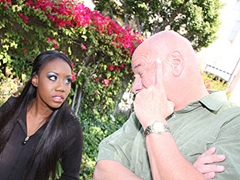 Hot Black Girl Gets Face Covered In Redneck Cum. Nina Devon