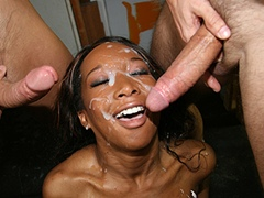 Rednecks Gangbang Black Babe With Bukkake Finish. Stacey Cash