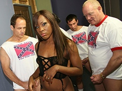 Ebony Babe Gets Gangbanged By Rednecks And Bukkake. Ms Platinum