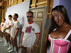 Hot Black Girl Gets Bukkake From White Rednecks. Milan Sterling