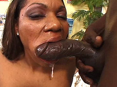 Curly ebony whore wild bang by very giant black cock