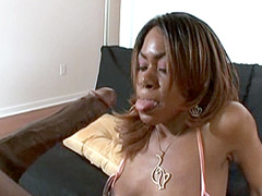 Ebony babe gets fucked by gigantic black monster cock
