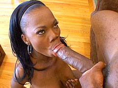 Black massive cock bang hot ebony babe and gets creampie on tits