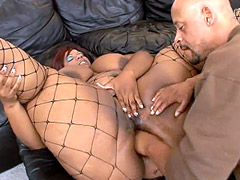 Hard guy cock drilled wet pussy chubby ebony whore with huge boobs