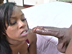 Sexy horny ebony whore banged by big black cock on bed