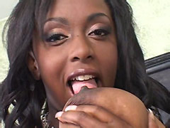 Busty ebony milf sucks huge african cock and gets pussy drilled