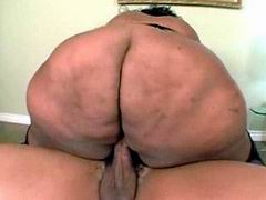 Tits ebony BBW in black stockings presses under itself strong guy