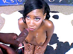 Cute ebony babe, Rane Revere take big dick in asshole