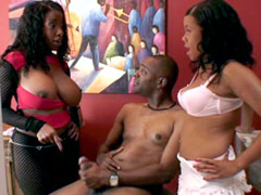 Sexy black pornstars shared big african cock