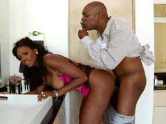 Busty black babe Nyomi Banxxx gets her great ass drilled hardcore
