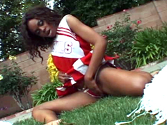 Curly hair ebony teen Tink fucked after school