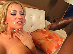 10 inch black cocks double drilled blonde in wild gangbang action