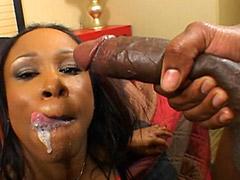 Brotha insert hard black big cock in hot pussy ebony babe
