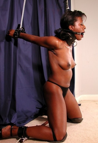 Ebony black bdsm