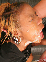 Black girl throat fucked