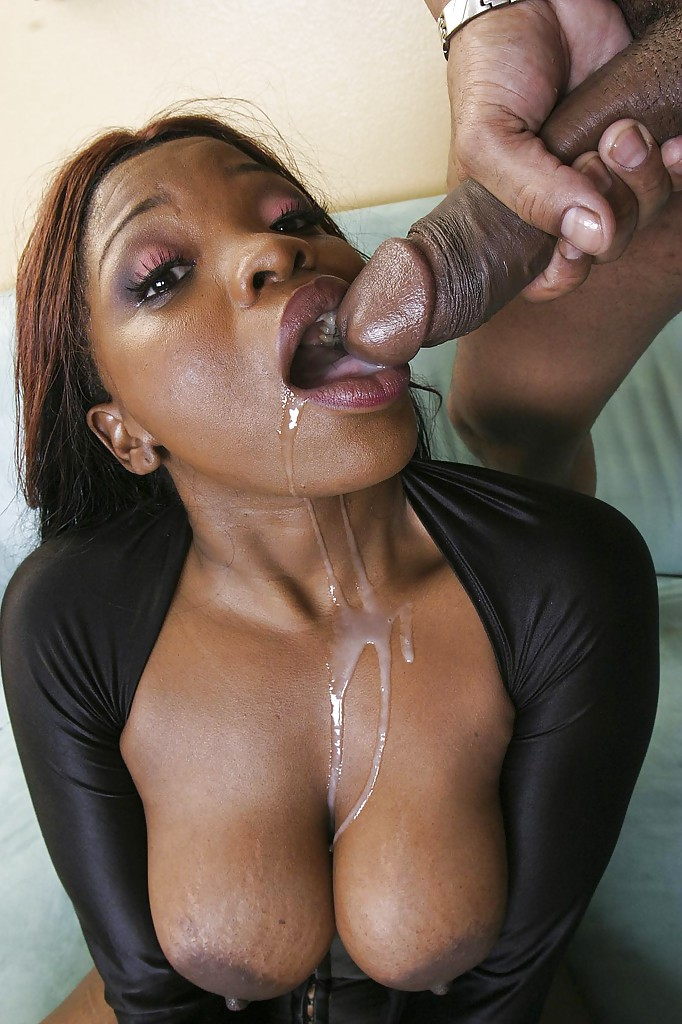 Ebony Hardcore Throat Fuck