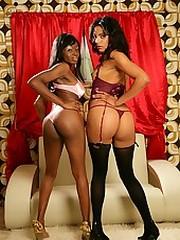 Beautiful black vixens fucking each..