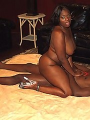 Obese black mama gets fucked in this hardcore action