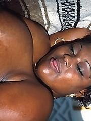 Big spoils bitch gets her titties fucked