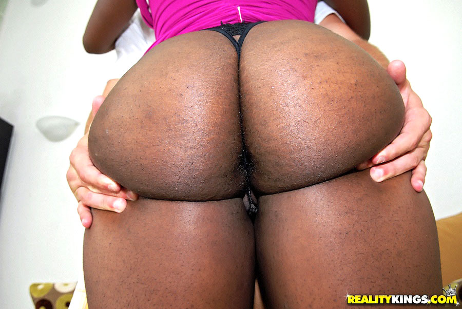 Thick round black ass