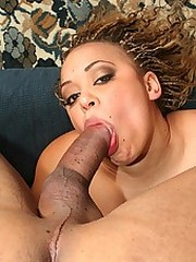 A big thick dick pumps a load into an..