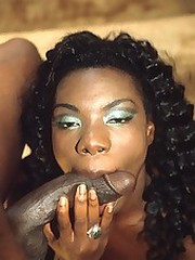 Black cum slut sucks cock and gets facialized