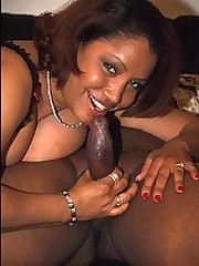 Chubby cock craving ebony bent in half..