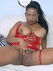 Fiery hot ebony slut getting her ass..