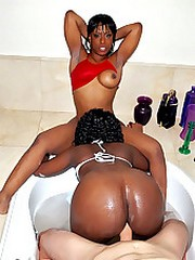 Two naked bootyfull fucking mega ass black teens..