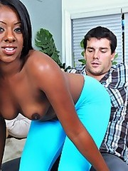 Hot long leg ebony babe teamuku gets her black box fucked hard outdoors in these hot amateur black babe fuck..