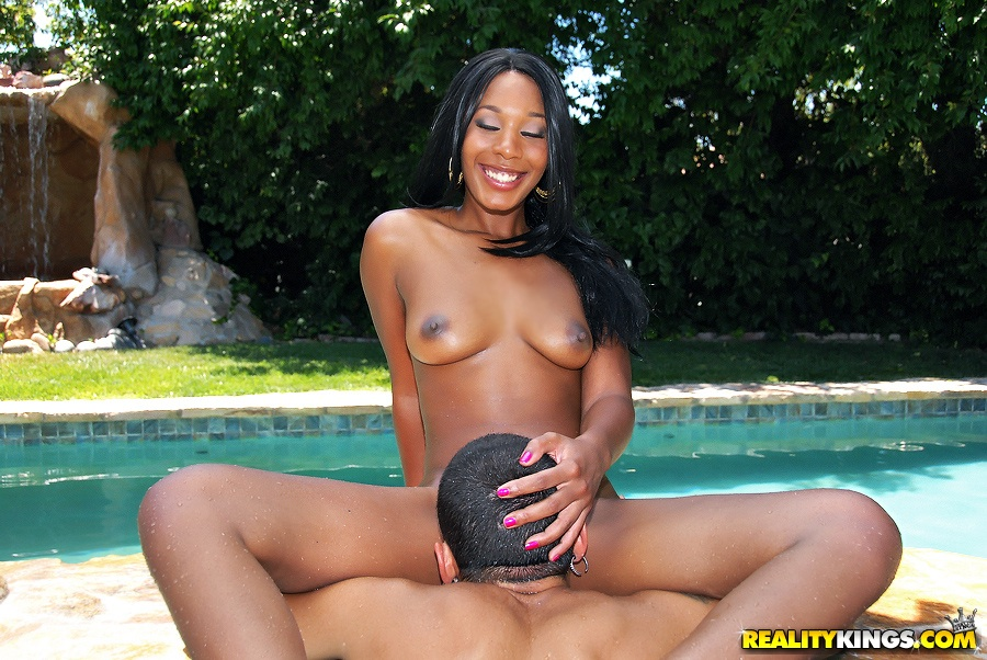 Two naked hot black babes obtain fucked pool friend by.. Photo #7   Back On  Gallery