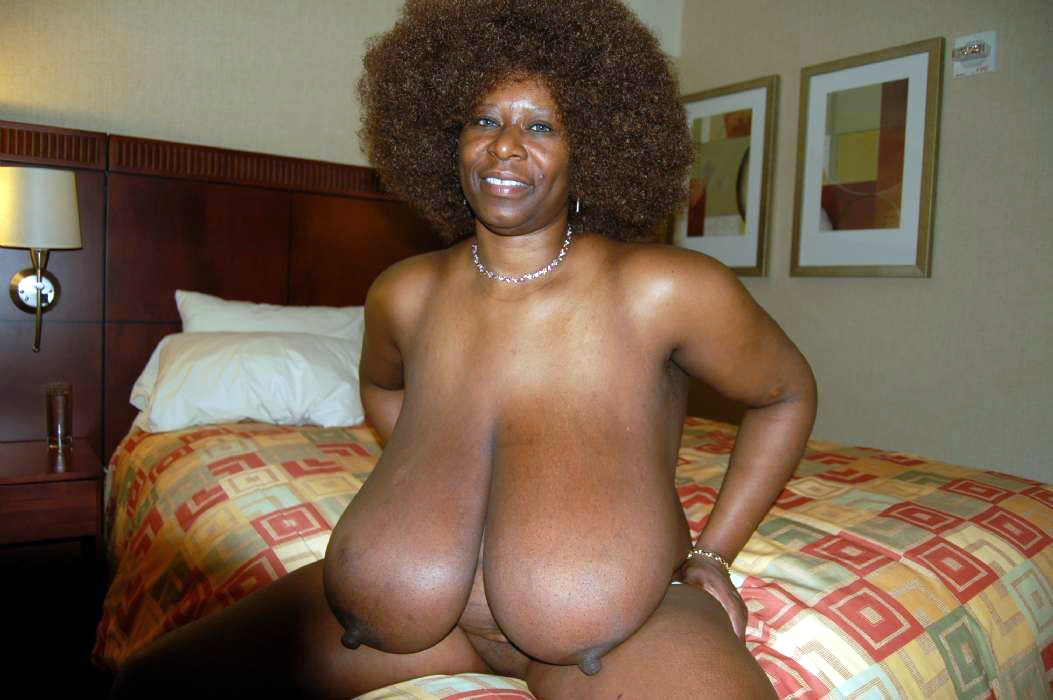Biggest black african tits