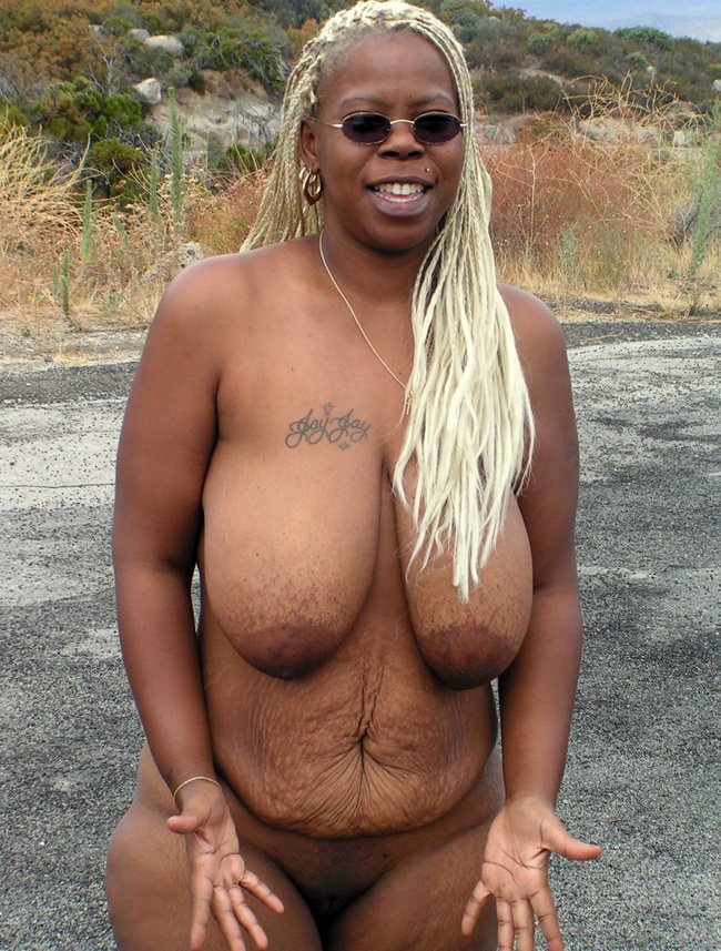 three naked fat black girls