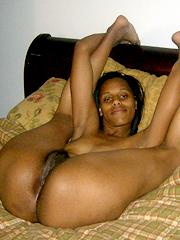 Chocolate nude Hot girl in