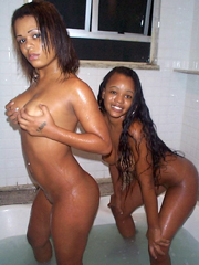 Picture collection of a black whore getting dirty with her BF