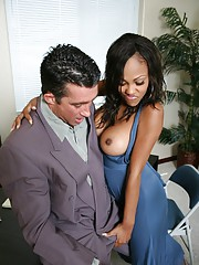 Black MILF Lacey DuValle got get under one's brush pussy rammed deep in get under one's assignation
