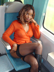ebony hottie travels naked, She looked hot and sexy