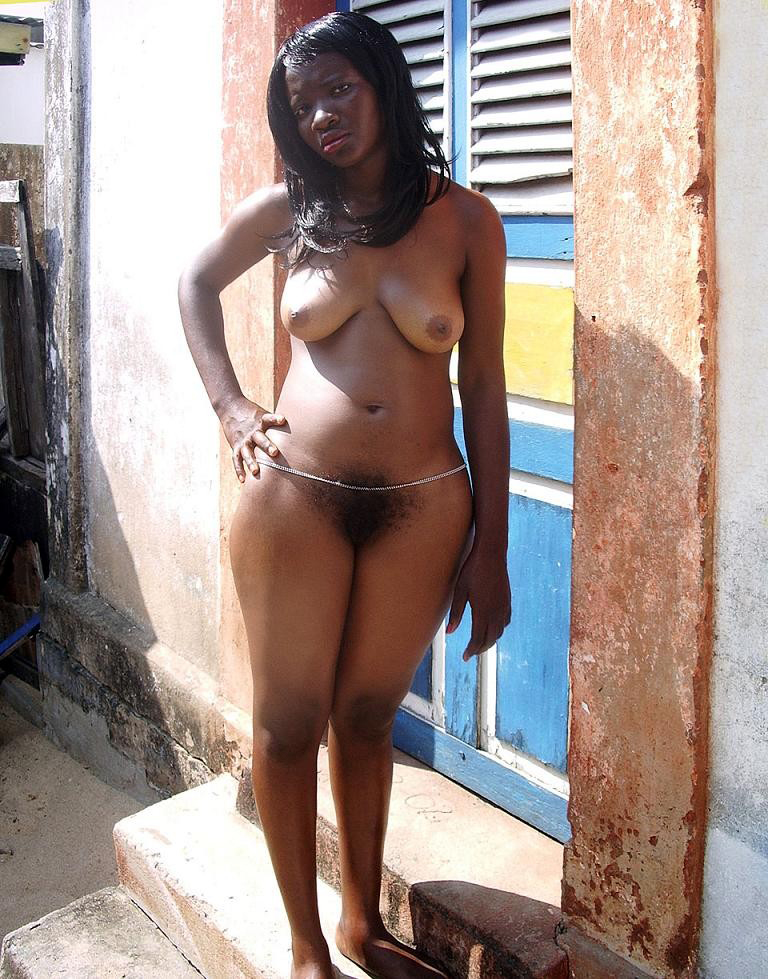 Busty ebony vintage hot nude