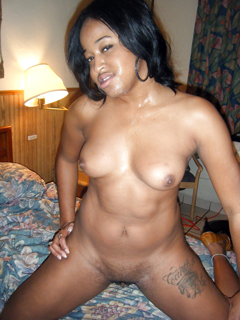 Young dark black girl nude are