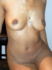Black  mom trying on big strap-on. It's a crazy!