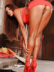 Monumental babe on lofty heels Keisha Kane uncovering will not hear of fuckable congress