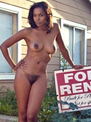 Some milfs may be for sale. This ebony mom - 'for rent'...