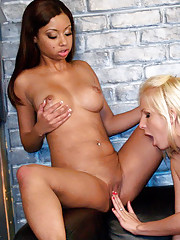 Lusty adolescence Eden Adams & Angel Cummings stripping and caressing each change off