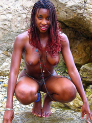 Ebony and Black Gfs sucks, undresses and flashes